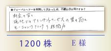 1200株 E様