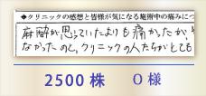 2500株 O様